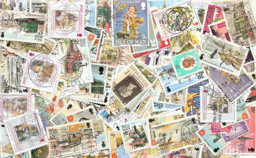 Isle of Man Stamp Collection - 200 Different Stamps