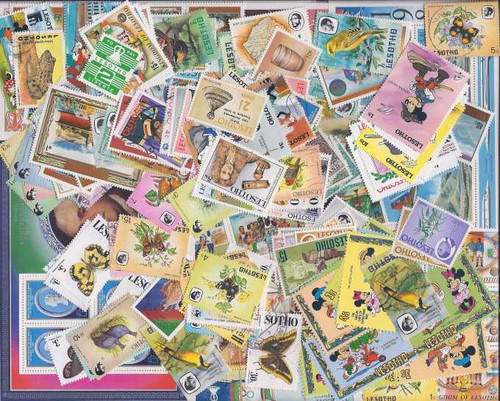 Lesotho Stamp Collection - 200 Different Stamps