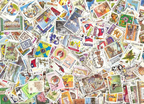Taiwan, China Stamp Collection - 800 Different Stamps