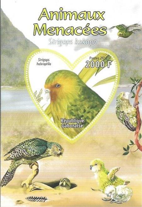 Gabon - Endangered Species - Parrot - Souvenir Sheet - 7F-067
