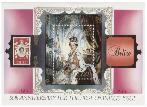 Belize - Omnibus 50th Anniversary Souvenir Sheet