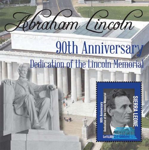 Sierra Leone - Lincoln Memorial - Mint Stamp Souvenir Sheet SIE1217S