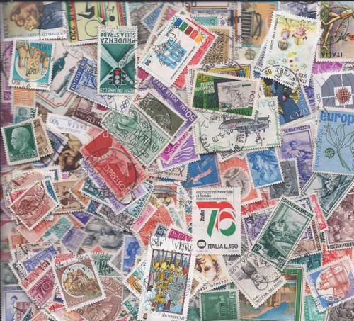 Italy Stamp Collection - 300 Different Stamps