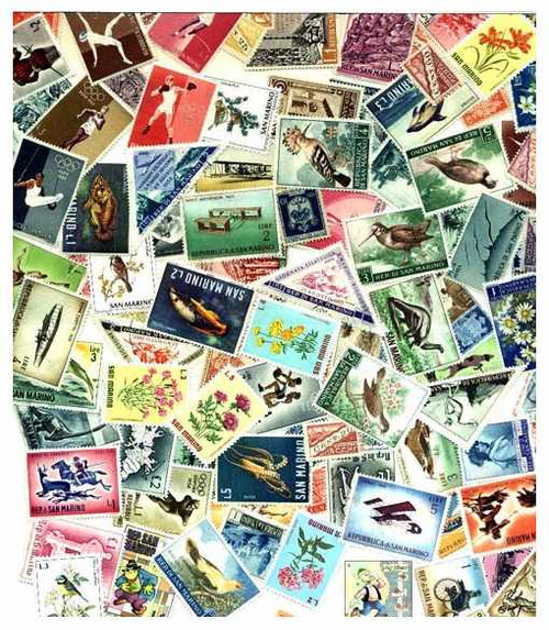 San Marino Stamp Collection - 200 Different Stamps