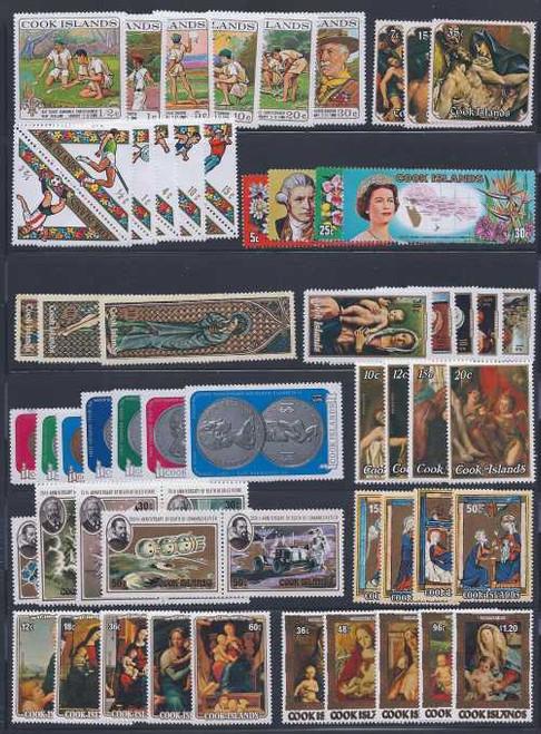 Cook Islands Mint NH Set Collection - 32 Different Sets - CV $308+