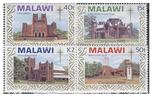 Malawi - Christmas & Churches  on Stamps #558-61