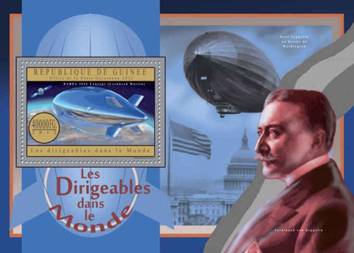 Republic of Guinea - Zeppelins of the World - Souvenir Sheet - 7B-2039