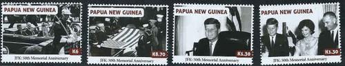 Papua New Guinea - JFK, Black & White - 4 Stamp Set - PNG1304C