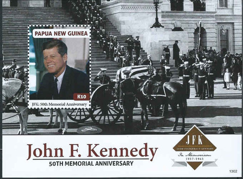 Papua New Guinea - JFK, Black & White - Souvenir Sheet - PNG1304S