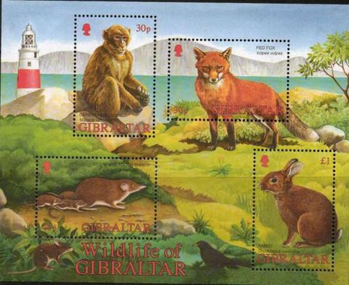 Gibraltar Wholesale - 2002 Wildlife 4 Stamp Sheet #912a - 10 ea
