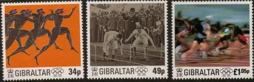 Gibraltar Wholesale -  - 10 sets - 1996 Olympics - 3 Stamp Sets #711-3