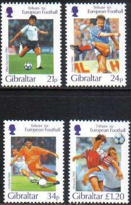Gibraltar Wholesale 10 Sets 1996 Football 4 Stamp Set MNH @ Half Face!