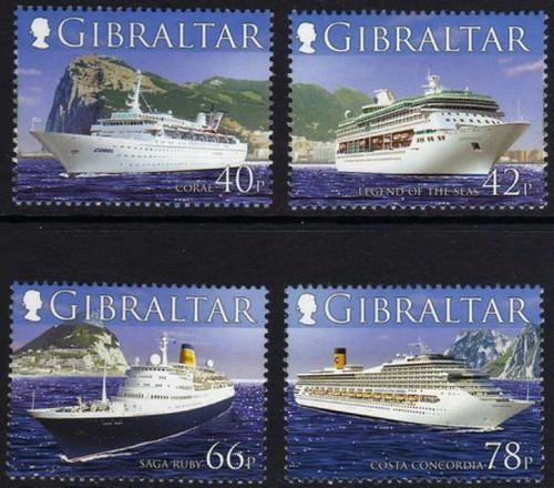 Gibraltar Wholesale - 10 Sets 2006 Cruise Ships #1052-5 Below Face!