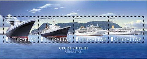 Gibraltar Wholesale - 10 Sheets 2007 Cruise Ships #1079a Below Face!