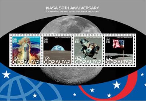 Gibraltar Wholesale - 10 Sheets 2008 NASA MNH Scott #1157 Below Face!