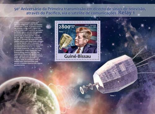 Guinea-Bissau - Satellite TV, JFK - Stamp Souvenir Sheet GB13206b