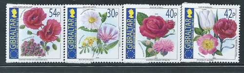 Gibraltar – 2003 - National Flowers – 4 Stamp Set Scott #946-9