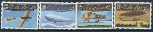 Gibraltar Wholesale – 10 sets Aviation Centenaries – Scott #1239-42