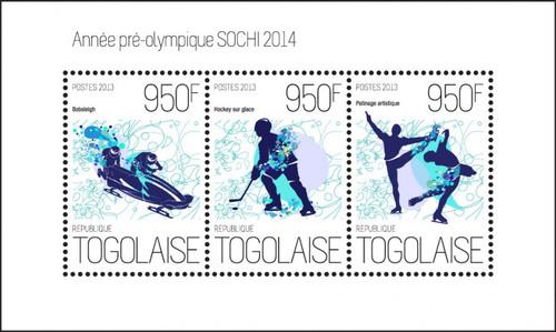Togo - Sotchi - Pre-Olympics 2014 - Bobsleigh, Ice Hockey - 20H-674