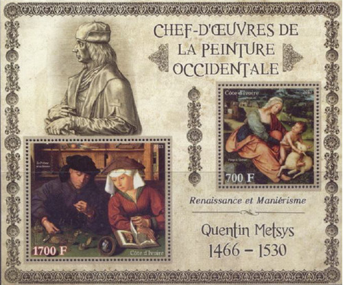Ivory Coast - 2013 Metsys Paintings - 2 Stamp Sheet - 9A-208