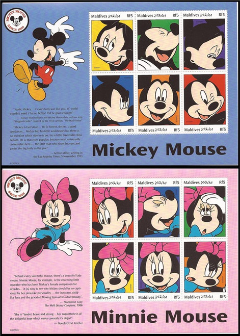 Maldives - 1999 Disney Characters 6 Sheet Set of 6 Stamps Each 13E-046