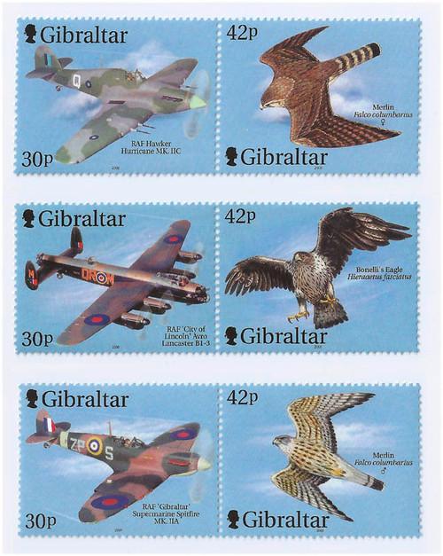 Gibraltar Wholesale 10 Sets Aircraft & Raptors Below Face! #851-3