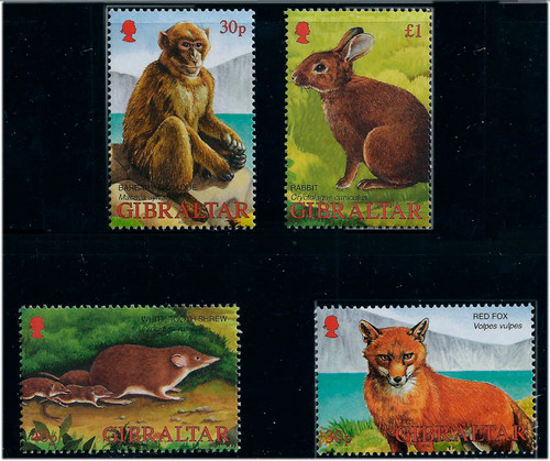 Gibraltar Wholesale Wildlife 10 sets/4 Stamps Each #909-12 at 2/3 Face!