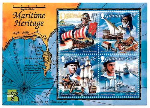 Gibraltar Wholesale 10 Sheets Maritime #801a & 70% Face, 25% CV!