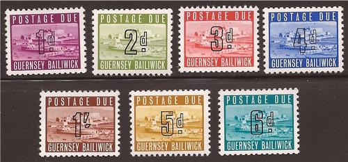 Guernsey - 1969 Postage Dues - 7 Stamp Complete Set - F/VF MNH - J1-7