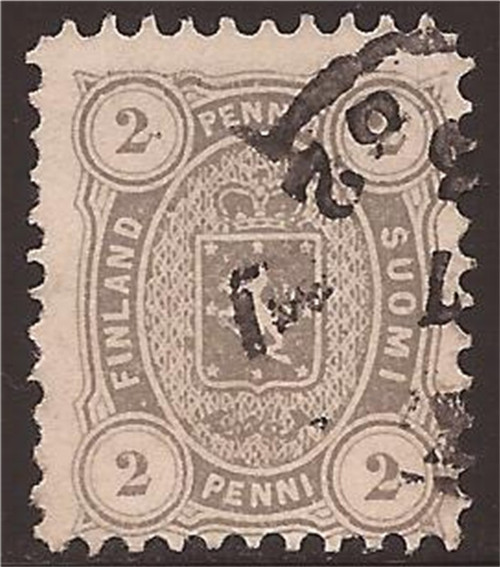Finland - 1875 2p Gray - Perf 11 - F/VF Used - Scott #17