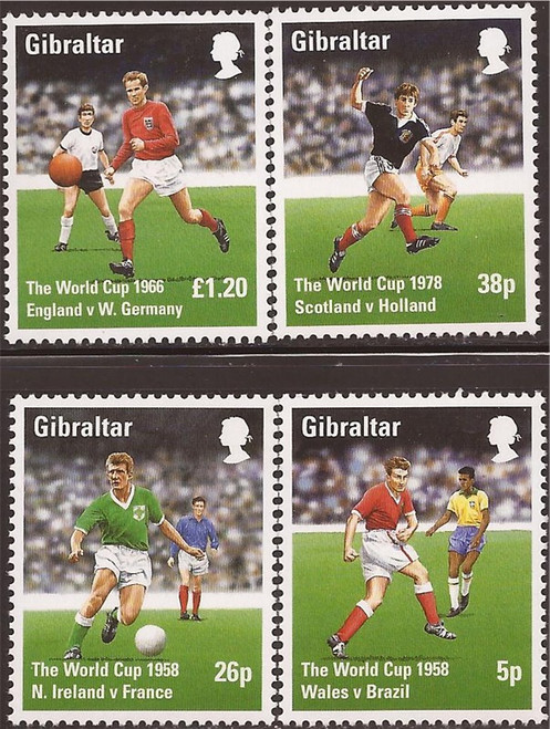 Gibraltar Wholesale - 1998 World Cup Football 10 Sets #746-9 at ½ Face