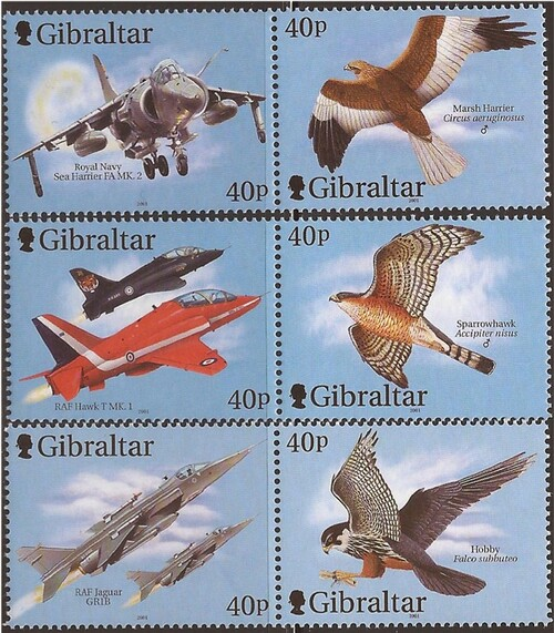 Gibraltar Wholesale - 2001 Fighter Planes & Raptors - 10 Sets #887-9