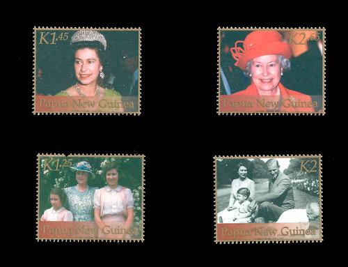Papua New Guinea 2002 Elizabeth II Golden Jubilee 5 Stamp Set 16E-001