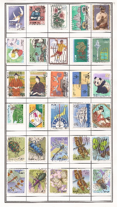 Japan Stamp Pictorials - 700 Different Mounted Stamps