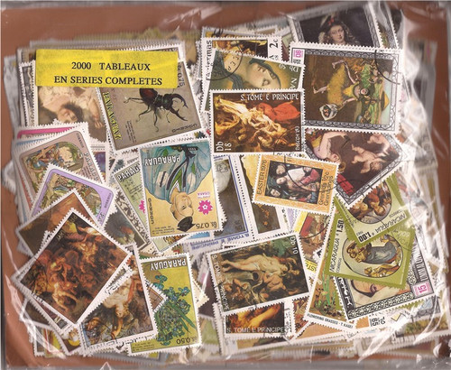 Worldwide Stamp Collection - 2,000 Different Stamps in Complete Sets
