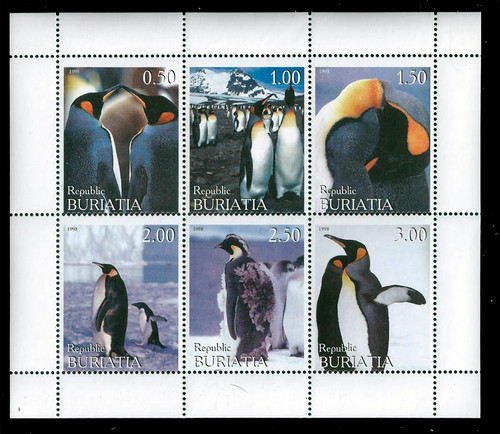 1998 - Penguins of the World on Stamps Mint 6 Stamp Sheet 11C-053