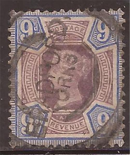 Great Britain - 1890 9p Queen Victoria - VF Used Scott #120