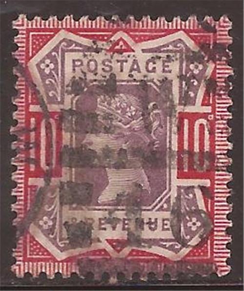 Great Britain - 1890 10p Queen Victoria - F/VF Used Scott #121