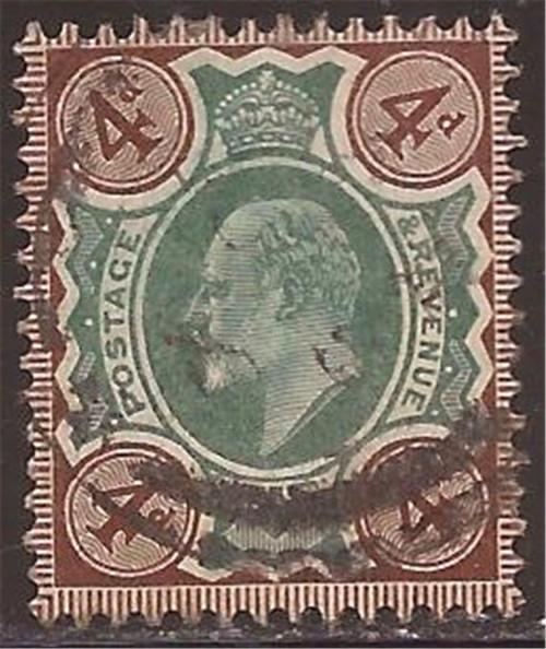Great Britain - 1902 4p King Edward VII - F/VF Used Scott #133