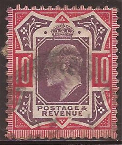Great Britain - 1902 10p King Edward VII - F/VF Used Scott #137