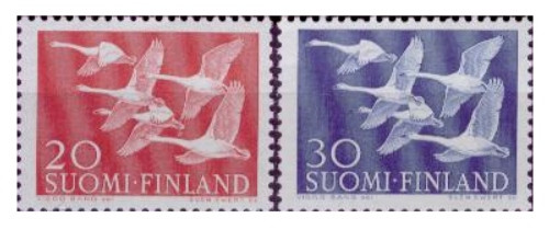 Finland - 1956 Northern Countries #343-4 F/VF MNH