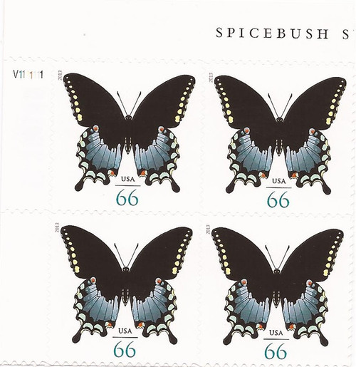 US Stamp 2013 Butterfly - Plate Block of 4 Stamps #4736
