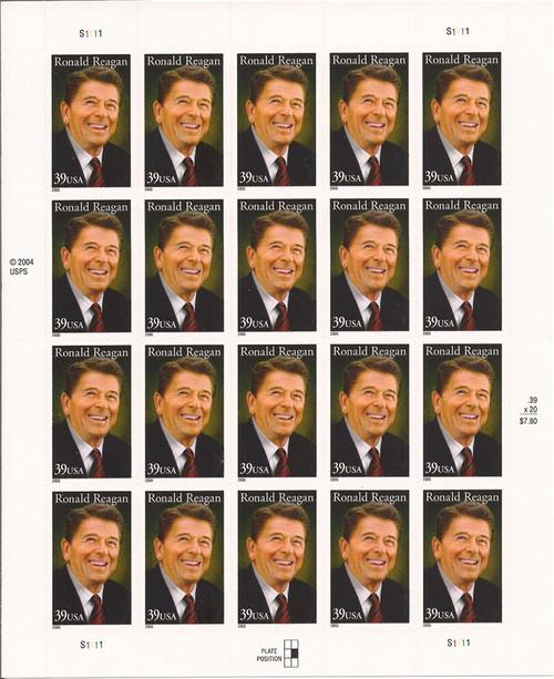 US Stamp - 2006 Ronald Reagan - 20 Stamp Sheet - Scott #4078