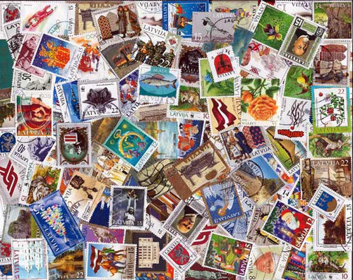 Latvia Stamp Collection - 150 Different Stamps, Used Post 1991
