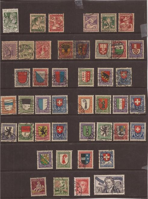 Switzerland - Semi-Postal Used Stamp Collection 1913-36 #B1/B84