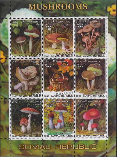 2000 Exotic Wild Forest Mushrooms Mint 9 Stamp Sheet MNH 19B-169