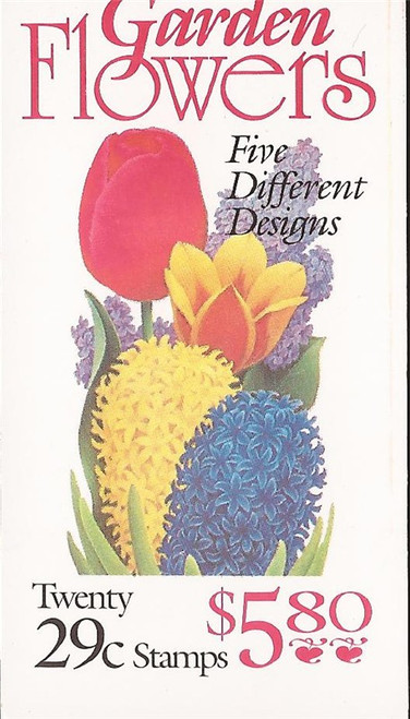 US Stamp - 1993 Garden Flowers - Booklet of 20 Stamps - Scott #BK208