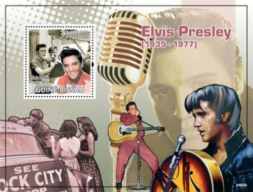 Guinea-Bissau - 2009 Elvis Presley - Mint Stamp Souvenir Sheet GB9405b