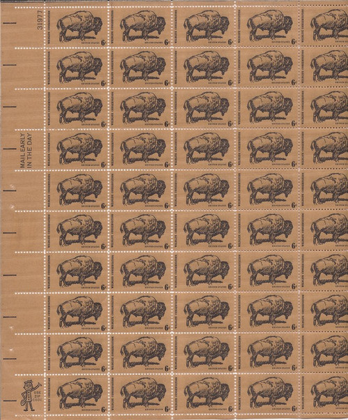 US Stamp - 1970 Wildlife Conservation - 50 Stamp Sheet - Scott #1392