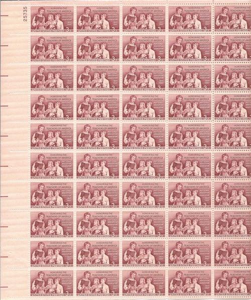 US Stamp - 1957 School Teachers - 50 Stamp Sheet - Scott #1093